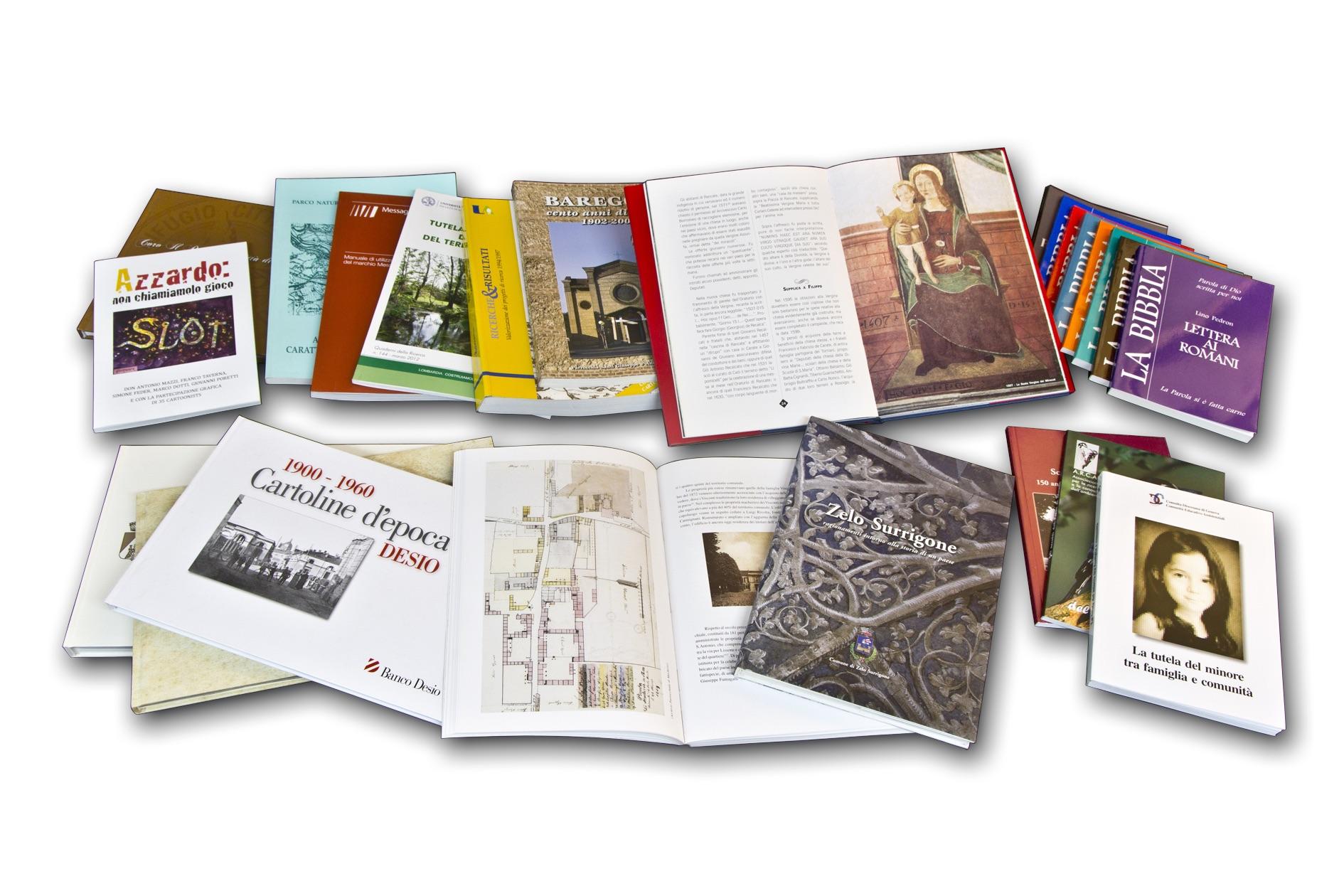 LIBRI & MONOGRAFIE A colori e bianco/nero, con copertina cartonata o con alette, rilegatura di qualsiasi tipo STAMPA: OFFSET, DIGITALE